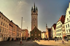 Town Square In Straubing Bavaria Germany Photograph