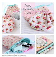 Pretty Drawstring Pouch {Tutorial} | A Spoonful of Sugar