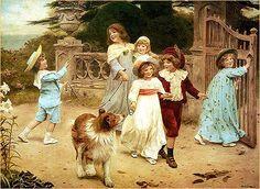 Home Team | art by SIR ARTHUR J. ELSLEY (1860-1952)