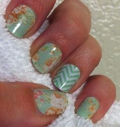 Jamberry nails - Nail art made easy  #green #nailart #jamberrynails  www.ashleymcharper.jamberrynails.net