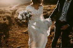 modest wedding dress with long sleeves from alta moda bridal (modest bridal gowns) photo by meg bird #modestweddingdresses