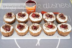 Mini Black Forest Cheesecakes Recipe - Turkish Style Cooking