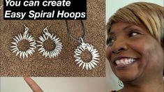 How to Create Spiral Hoop Earrings #11 - YouTube Diy Jewelry Videos, Work Gifts, Spiral, Originals, Hoop Earrings, Make It Yourself, Create, Youtube, Art