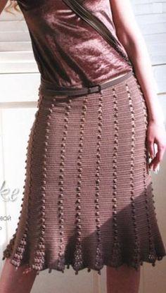 Вязанная крючком женская юбка схемы