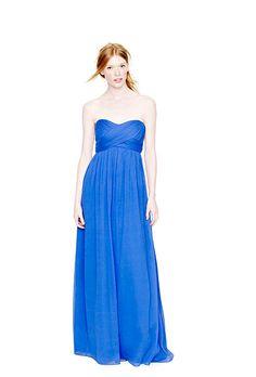 b61b4390c730 Brides.com  . Blue Bridesmaid Dress  J.Crew. Floor-length