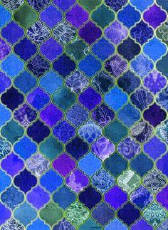 Design Seeds, Tile Patterns, Colour Schemes, Pattern Wallpaper, Shades Of Blue, Purple, Aqua Blue, Images, Ornament