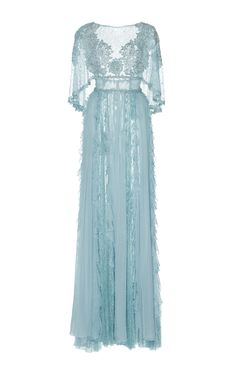 Cape Chiffon Gown  by ZUHAIR MURAD