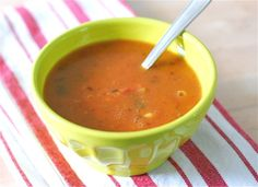 An easy vegetable slow-cooker soup recipe.
