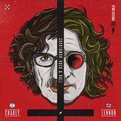 Gastón Drogo GeDe on Behance Rock Roll, John Lennon, Photoshop, Joker, Gaston, The Beatles, Clock, Movie Posters, Ford