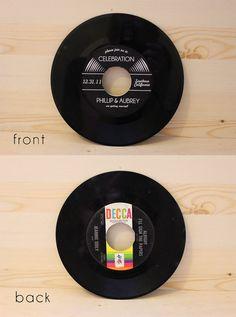 Invitation de mariage musique amateurs Vinyl par yesdearstudio