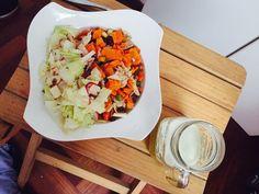 My sudado de verduras pollo y 🥗 ensalada ❤️💁🏼❤️