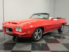 This 1972 Pontiac Le Mans is listed on Carsforsale.com for $27,995 in Lithia Springs, GA. This vehicle includes Defrost,AM/FM Radio,CD Player,Power Convertible Top,Air Conditioning,Heat,Vinyl Interior,Front Disc Brakes,Power Brakes,Power Steering,Seatbelts