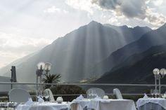 Besonders in den Sommermonaten (Juni - Mitte September) findet das Abendessen oft unter freiem Himmel statt.