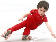 Artistic Roller Skating - starting young by shooting the duck
