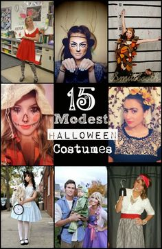 Finding a costume idea is difficult but trying to find a modest one can almost be impossible. Here are 15 DIY creative modest costumes ideas. Modest Costumes, Diy Halloween Costumes For Women, Diy Costumes, Halloween Crafts, Halloween Party, Costume Ideas, Halloween Ideas, Spooky Costumes, Halloween Makeup