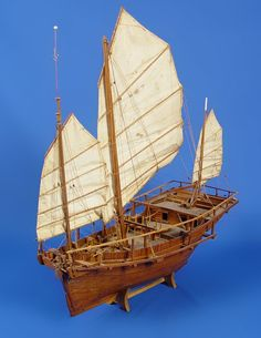 CHINESE JUNK BOATS | 187: MODEL OF CHINESE JUNK BOAT : Lot 187