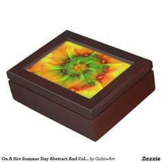 On A Hot Summer Day Abstract And Colorful Fractal Keepsake Box