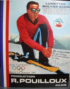 Warm to Cool Vuarnet Sunglasses Advertisement Jean-Claude Killy
