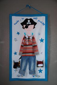 """Panneau d'habillement """"Pirate"""" : Jeux, jouets par lesfeespoulettes"""