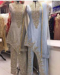 Pakistani Dresses Party, Pakistani Wedding Outfits, Bridal Outfits, Indian Dresses, Indian Outfits, Drape Dress Pattern, Western Show Clothes, Lehenga Gown, Fancy Gowns