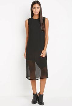 Contemporary Asymmetrical Hem Shift Dress | Forever 21 - 2000179664