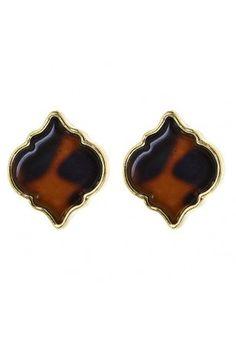 Tortoise Spade Earrings