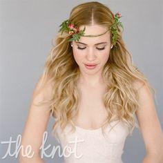 Rosebud Flower Crown and Soft Waves