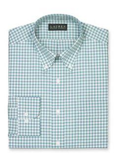 Lauren Ralph Lauren Dress Shirt  Classic-Fit Checked Dress Shirt