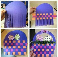 Weaving craft for preschoolers | funnycrafts