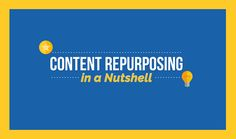 Content Repurposing in a Nutshell [Infographic] | Social Media Today