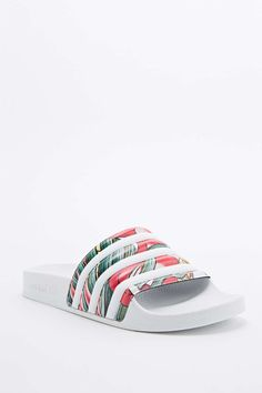 Adidas X Rita Ora Adilette Pool Sliders in White
