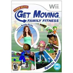 JumpStart Get Moving Family Fitness Sports Edition Featuring Brooke Burke - Nintendo Wii Learning Games For Kids, Fun Games For Kids, Fun Sports Games, Volleyball, Basketball, Brooke Burke, Family Fitness, Fitness Fun, Fitness Motivation