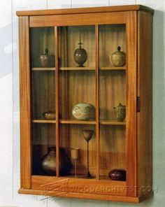 Wall Display Cabinet Plans - Furniture Plans and Projects - Woodwork, Woodworking, Woodworking Tips, Woodworking Techniques