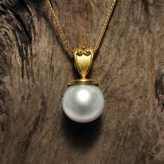 pendant with a South Sea Pearl on chain Pearl Jewelry, Pearl Necklace, Pendant Necklace, Pearl Pendant, Diamond Pendant, South Sea Pearls, South Seas, Best Investments, Black Diamond