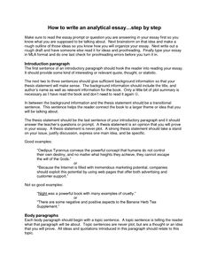sample analytical essay outline how to write an analytical essay step by step - Writing A Analytical Essay