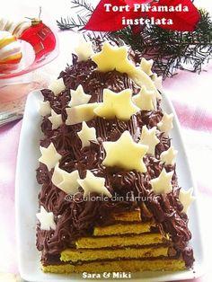 Starry pyramid cake -  Tort Piramida instelata