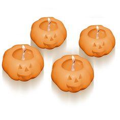 Molde para hacer velas 4 calabacitas halloween flotantes