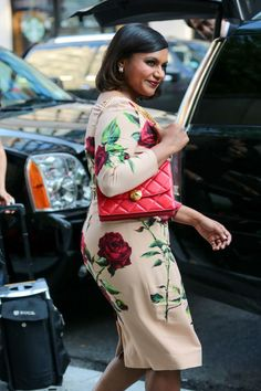Pin for Later: Mindy Kaling Found the Most Flattering Floral Dress in All the Land