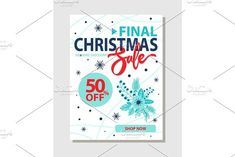 Final Christmas Sale 50% Off Promo Poster Shop Now. Marketing
