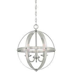 Westinghouse Stella Mira 3-Light Brushed Nickel Pendant-6341900 - The Home Depot