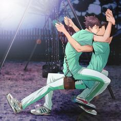 Oikawa and Iwa-channnnn~
