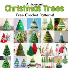 This article features wonderful crochet patterns for amigurumi Christmas trees that are absolutely free! Crochet these free Christmas tree patterns for yourself or to give away as presents!