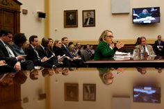 Roughly 300 emails from Hillary Rodham Clinton's private account were turned over to a House committee investigating the attack on the U.S. diplomatic compound in Benghazi, Libya, in 2012.