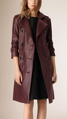 A Burberry trench coat cut from supple, smooth lambskin. Discover the women's outerwear collection at Burberry.com