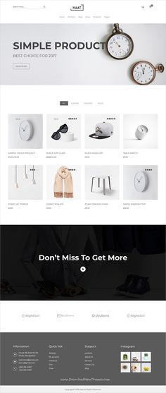 Haat is clean, minimalist and modern design 5in1 responsive WooCommerce #WordPresstheme for stunning eCommerce #shop website to live preview & download click on Visit #webdesigns