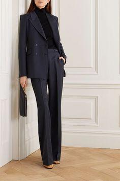 Gabriela Hearst - Blazer à double boutonnage en laine mélangée Angela Suit Fashion, Work Fashion, Fashion Outfits, Fashion 2018, Fashion Boots, Workwear Fashion, Woman Outfits, Curvy Fashion, Fall Fashion