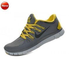 Paris Refroidir chaussures de sport gris jaune de Nike, Nike Free 5.0  ,579959-007 (AejQGl) Soldes