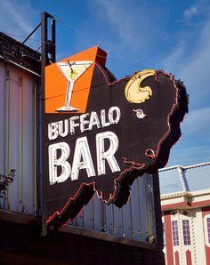 Buffalo Bar Neon Sign by SignsAcrossAmerica on Etsy
