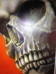 I don't like your future. Skull Painting, Air Brush Painting, Car Painting, Belly Painting, Airbrush Skull, Custom Airbrushing, Tatoo Art, Skull Tattoos, Grim Reaper