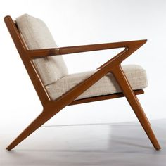 The Kennedy chair from Thrive is flawless: modern but timeless, masculine but graceful. And check out those sexy angles!